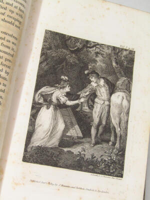 Le Sage (Alain René) The Adventures of Gil Blas de Santillane translated by Tobias Smollett, 3 vol., 15 engraved plates, contemporary half calf over patterned boards, 8vo, 1819. - 3