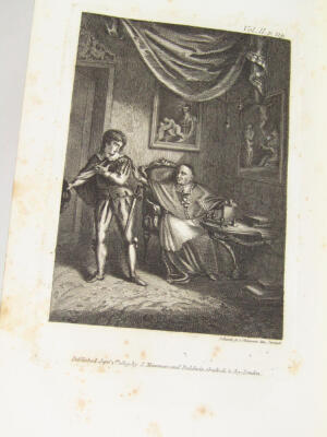 Le Sage (Alain René) The Adventures of Gil Blas de Santillane translated by Tobias Smollett, 3 vol., 15 engraved plates, contemporary half calf over patterned boards, 8vo, 1819. - 4
