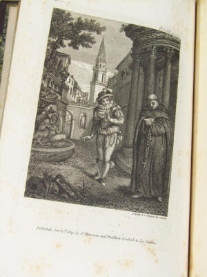 Le Sage (Alain René) The Adventures of Gil Blas de Santillane translated by Tobias Smollett, 3 vol., 15 engraved plates, contemporary half calf over patterned boards, 8vo, 1819. - 5