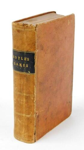[Hoyle (Edmond)] Hoyle's Games Improved and Enlarged by New and Practical Treatises…, contemporary sheep, a little scuffed, 8vo, 1835.