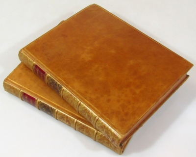 Binding. Aufrere (Anthony) The Lockhart Papers 2 vol., half-title, slightly foxed, contemporary fine morocco binding ruled in gilt, spine gilt, 4to, 1817. - 3