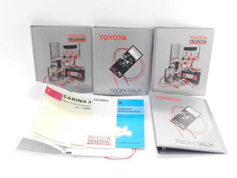 A 1980's Toyota GB training manual, ring binders, folders and ephemera. (a quantity)
