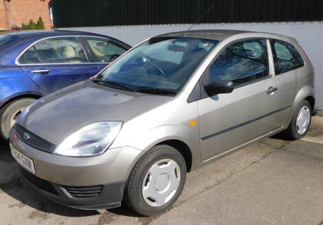 A Ford Fiesta Finesse, Registration FV04 GXW, three door hatchback, petrol, 1242cc, silver, first registered 21/07/2004, V5 present, 37,531 recorded miles. To be sold upon the instructions of the Executors of Charles Potter (Dec'd)