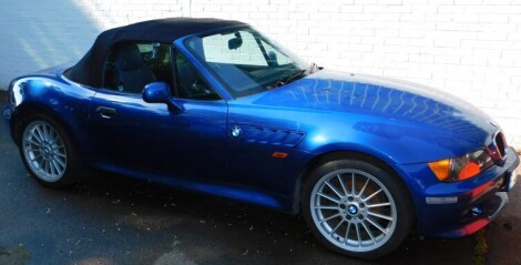 A BMW Z3 Roadster, V832 LEC, manual, blue piped interior, mileage 44,855, first registered 1/9/1999. For full history of this very clean example removed from storage in a deceased estate contact Colin Young MRICS on 07976 977169.