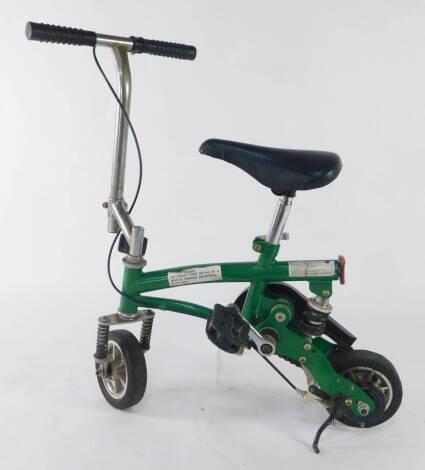 A Chinese MIcrobike, handle bar height 65cm, seat height 49cm.