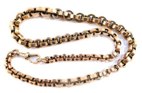 A circular cable link neck chain, on a lobster claw clasp, stamped 9ct, 30.5g.