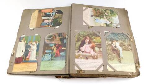 Deltiology. An album of Great War sentimental postcards, further sentimental cards, Hepworth Picture Player, Stars and others. (264)