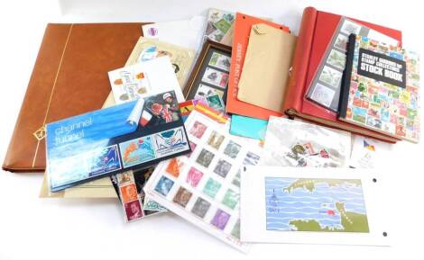 Philately GV - EII mint and used stamps, commemoratives, including Australia., Canada., Isle of Man., and Spain, in two albums and loose.