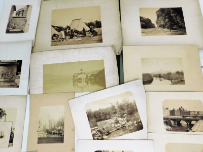 A collection of 19thC and later photographic monochrome prints, including Continental topography including Paris, Kings Sutton (Northants), and portraits, etc., in portfolio. - 3