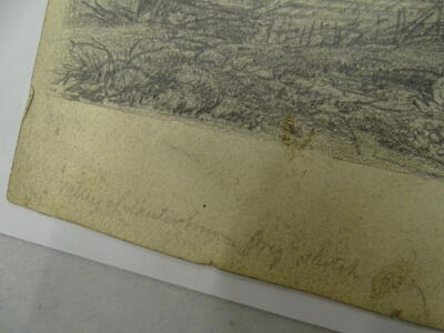 """D W Coit. Inscribed """"Valley of Lauterbrun grey sketch 1830"""", 20cm x 25cm. Provenance: Goodacre Collection No 322. - 3"""