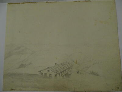 """D W Coit. Inscribed """"Valley of Lauterbrun grey sketch 1830"""", 20cm x 25cm. Provenance: Goodacre Collection No 322. - 4"""