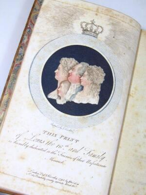Polignac (Diane de) Memoires sur la vie et le character de… chromolithographed frontispiece, tissue guard, contemporary calf, spine gilt, 8 volumes, 1796. - 2