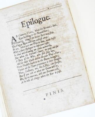 Dryden. Sr. Martin Marr-all: or, THE feign'd Innocence. A Comedy. As it is Acted by Their Majefties Servants, printed for Henry Harringmon London 1691. - 3