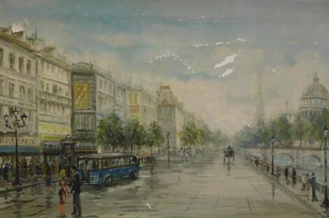 Bianchini (20thC) Paris street scene, oil on canvas, signed, 60cm x 92cm.
