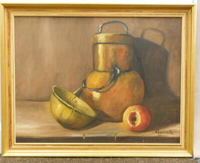 Vicente. Still life, oil on canvas, signed, 48.5cm x 63cm. Label verso, Croydon Galleries. - 2