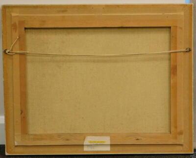 Vicente. Still life, oil on canvas, signed, 48.5cm x 63cm. Label verso, Croydon Galleries. - 4