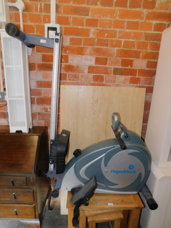 A Roger Black rowing machine.