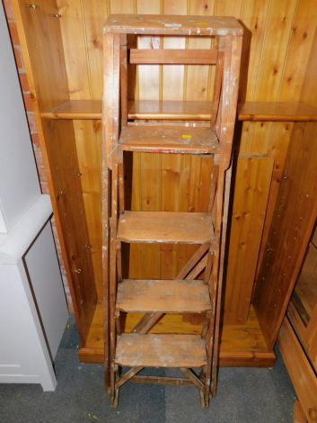 A French pine step ladder.