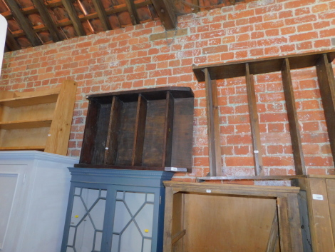 Two pine bookshelves, together with an oak bookshelf. (3)