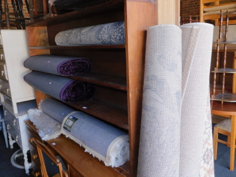 Assorted rugs, to include shag pile, purple wool, floral, etc. (8)