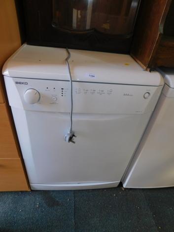A BEKO triple A Class dishwasher, model DWD 5411W.