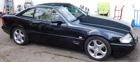 A Mercedes SL320 convertible, DBZ 732, first registered 23rd October 2000, 3199cc dual fuel LPG conversion installed in 2008, automatic, currently SORN with an MOT expiry of 21st September 2021, 66,557 recorded miles. To be sold upon instruction from the