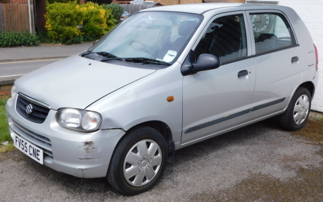 A Suzuki Alto GL, FV55 CNE, five door hatchback, petrol, 1061CC, silver, first registered 1st December 2005, V5 present, MOT to 1st December 2021, 38,560 recorded mileage. To be sold upon instructions of the Executors.