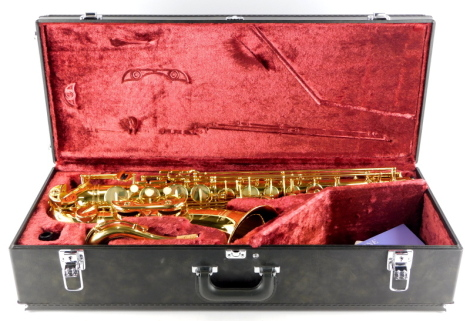 A Yamaha Tenor saxophone, stamped YTS/62, serial number 049702, Made in Japan, in fitted case.