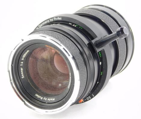 A Rollei HFT Sonnar f4 150mm Telephoto lens, for a Rolleiflex 6008AF.