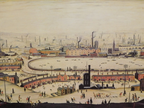 Laurence Stephen Lowry (1887-1971). The Pond, artist signed limited edition print, AFK blind stamp, signed to the mount, 44cm x 54cm.