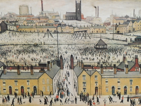 Laurence Stephen Lowry (1887-1971). Britain at Play, artist signed limited edition print, PBC blind stamp, signed to the mount, 45cm x 59cm.