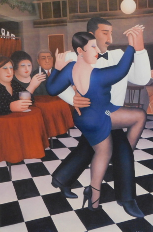 Beryl Cook (1926-2008). Tango in Bar Sur, Alexander Gallery, artist signed limited edition print no. 163/650, signed and numbered to the mount, 48cm x 31cm.