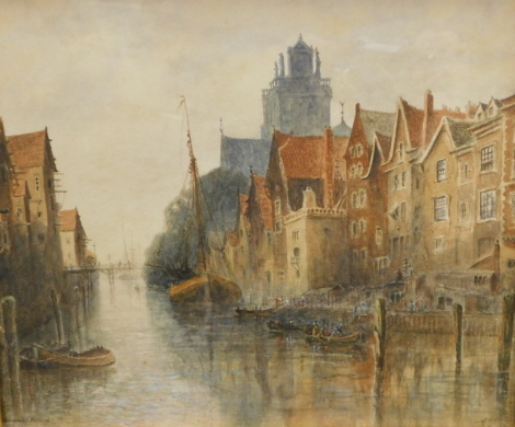 Albert Henry Findley (1880-1975). Dordrecht Holland, watercolour, signed and titled, 25cm x 28cm. Provenance: Previously sold Bonhams Knowle Lot 280.