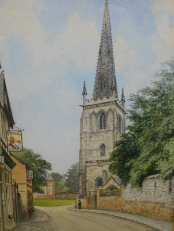 Albert Henry Findley (1880-1975). St. Mary's Church, Castle Green, watercolour, signed, 33cm x 23cm.