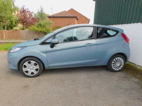 A Ford Fiesta Style Plus 80, Registration NL09 LFY, three door hatchback, petrol, 1242cc, blue, first registered 8th April 2009., recorded mileage approx 69941. To be sold upon instruction from the Executors of R Dickinson (Dec'd)