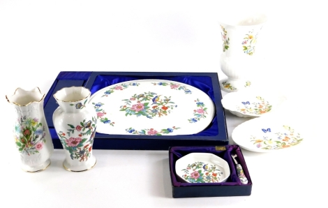 A collection of Aynsley ceramics, to include Cottage Garden vase, dish, etc.