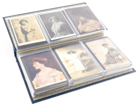 An album of early 20thC postcards, of mainly actresses, etc.