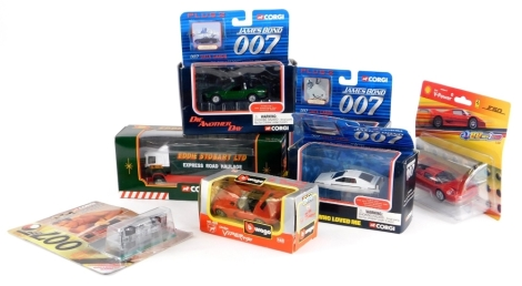 A collection of die cast vehicles, to include Corgi James Bond Plus 2 series, Eddie Stobart lorry, etc.