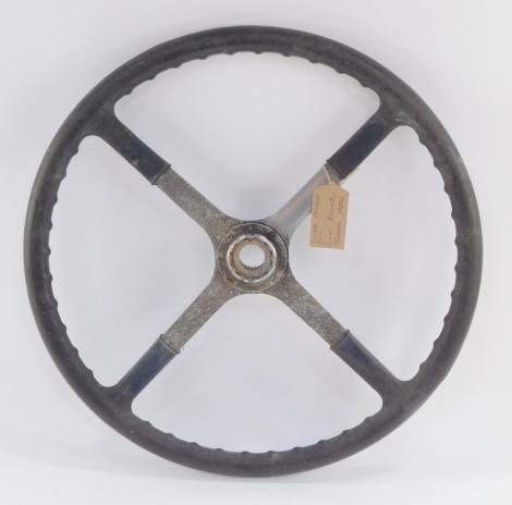A Rolls Royce Tourer steering wheel, early 20thC, Dover Patent 1916, 45cm diameter.