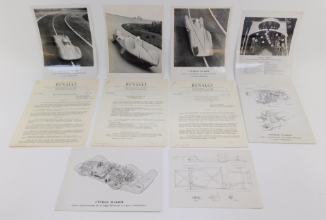 A Renault proposal from M Fernand Picard, to move from the piston engine to the turbine engine in Renault Motor Cars, dated 22nd June 1956., a letter from the President of Renault, dated 1956, urging that no theoretical research be dismissed in the intere
