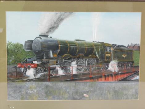 Jeff Crain (British, 20th/21stC). British Rail steam locomotive Salmon Trout, 60041, 4-6-2, mixed media, signed, dated '90, 26cm high, 55cm wide.