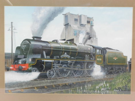 Jeff Crain (British 20th/21stC). British Rail steam locomotive Royal Army Service Corp, 46126, 4-6-0, mixed media, signed, dated '91, 37cm high, 53.5cm wide.
