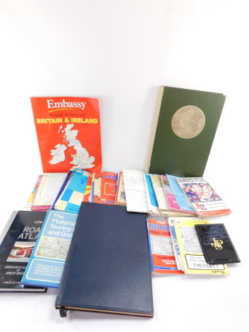 British and European road maps and atlases, some of local interest. (a quantity)
