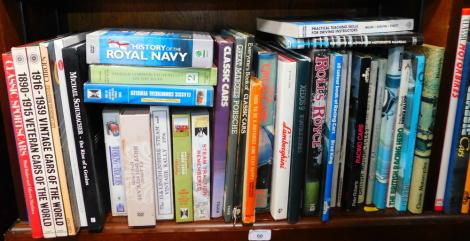 Books: Motor Racing, Motor Cars, Motorbikes, VHS video cassettes, etc. (a quantity)