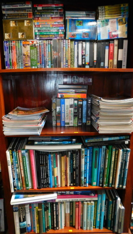 Railway Interest, including DVDs, VHS cassettes, magazines and books. (4 shelves)