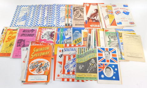 1950's Speedway Programmes, to include Liverpool., Shelbourne., West Ham and Western Springs. (a quantity)