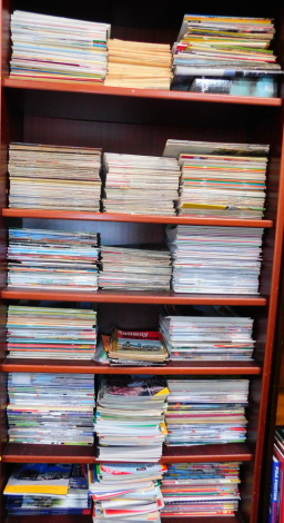 Railway Magazines, to include Rail Enthusiast., History of Railways., Steam Days., Railway Magazine., Railway World., and Steam World. (6 shelves)