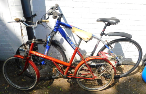 A Crossfire Carrera aluminium framed bicycle, together with a Twenty vintage bicycle. (2)