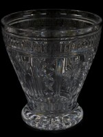 A Waterford crystal flared vase, with dove, wheatsheaf, ribbon and sunburst panels, 27cm high.