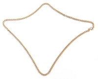 A 9ct gold curb link neck chain, 48cm long, 5.8g.